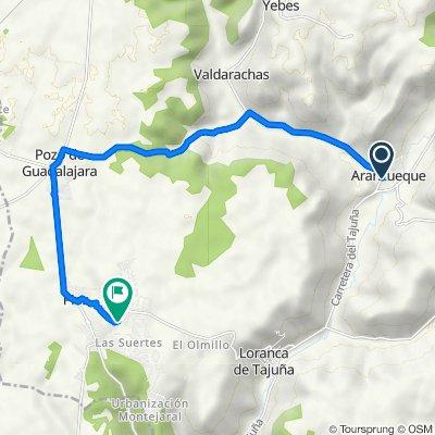 De Carretera de Alcalá 26B, Aranzueque a Calle Ciudad Encantada 378, Pioz