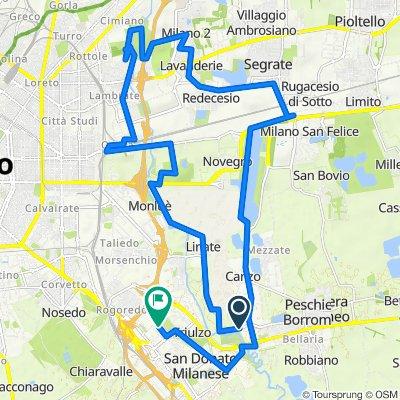Da Via Milano 9, Peschiera Borromeo a Via Caviaga 14B, San Donato Milanese
