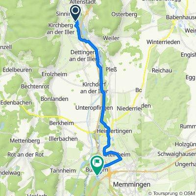 Werte 7, Kirchberg an der Iller nach Am Weiherhaus 11, Buxheim