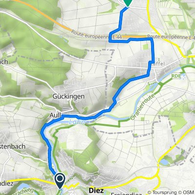 Rosenstraße, Verbandsgemeinde Diez nach K346 54, Elz