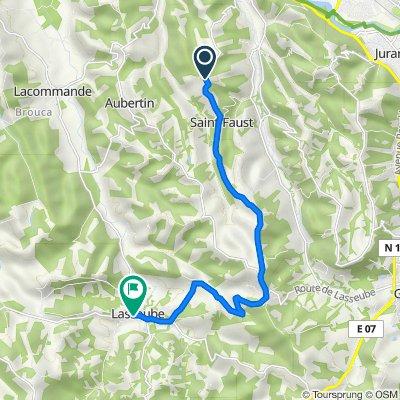 158 Chemin des Crêtes, Saint-Faust to Rue Jean Bascouret, Lasseube
