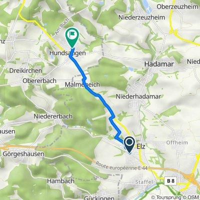 K346 54, Elz nach Leinpfad 6, Hundsangen