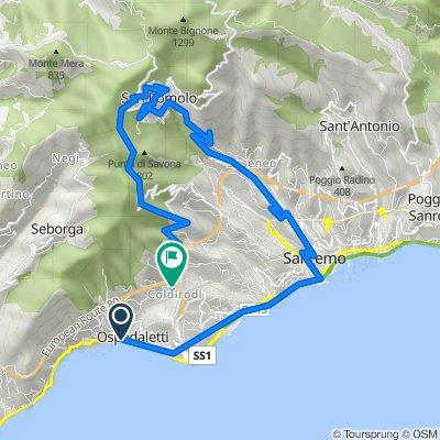 Passeggiata Soulac sur Mer, Ospedaletti to Via Castello in Località Coldiroli 26, Sanremo