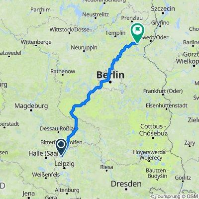 Route nach Klosterstraße, Angermünde