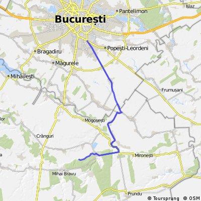 Bucuresti-Comana, on small county roads
