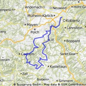 Koblenzer Moselkarussell - RTF der Radtouristik-Freunde Koblenz e.V. - 153 km Strecke