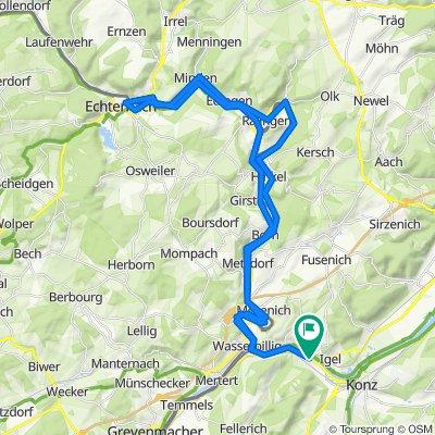 Sauerradweg von Wasserliesch nach Echternach und zurück