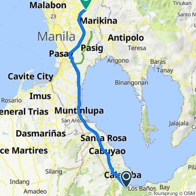 Manila South Road 1000, Calamba to Central Avenue 1, Quezon City