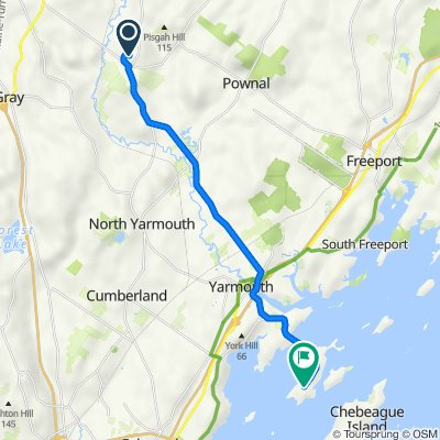 41 Campus Dr, Gray to 600–612 Cousins St, Yarmouth