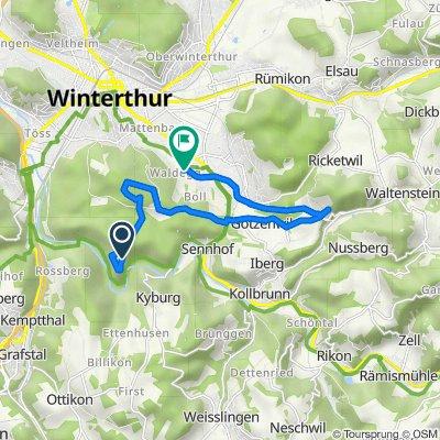 Untere Linsentalstrasse, Winterthur nach Waldeggstrasse 42, Winterthur