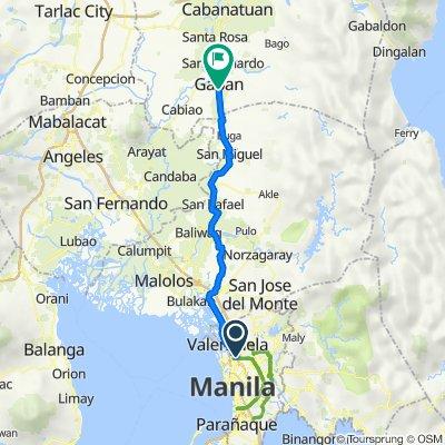 D. Arellano 171, Manila to Santan Street 423, Gapan City