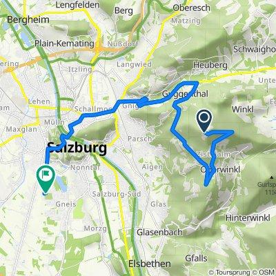 Gaisberg 30, Salzburg nach Zwieselweg 16, Salzburg