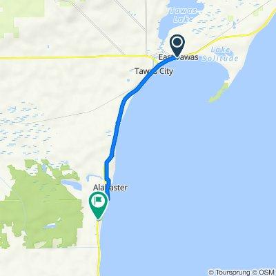 131–187 W Bay St, East Tawas to 3963–3999 US-23, Tawas City