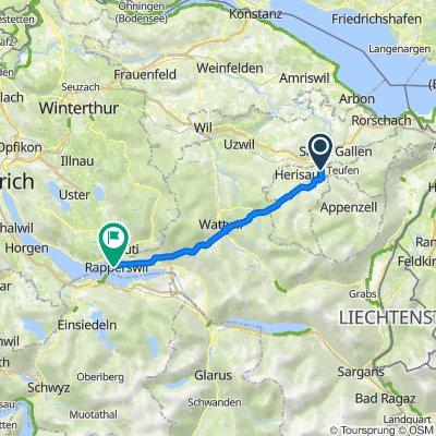 Rämsen 732, Stein AR nach Cityplatz, Rapperswil-Jona