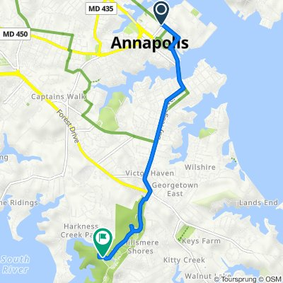 261–299 King George St, Annapolis to 602 Quiet Waters Park Rd, Annapolis