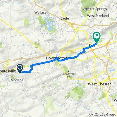 76 Narragansett Ln, Coatesville to 615 Sylvania Rd, Exton