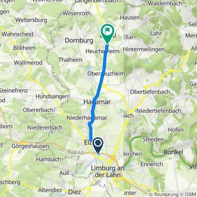 A3, Limburg nach Limburger Straße 18, Elbtal