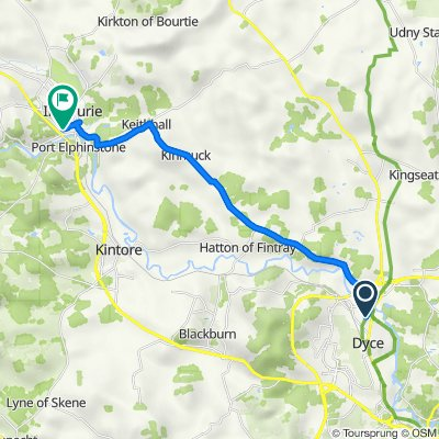 Route from 5C Goval View, Aberdeen