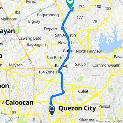 Basa 22, Quezon City to Ruby Street 1400, Caloocan