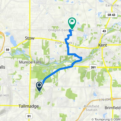 Route to 4101–4125 Newcomer Rd, Kent