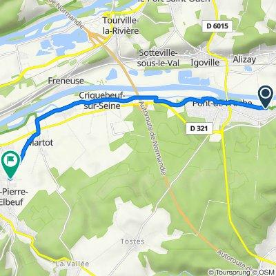 De 44 Route de l'Eure, Les Damps à 3 Rue de la Forêt, Saint-Pierre-lès-Elbeuf