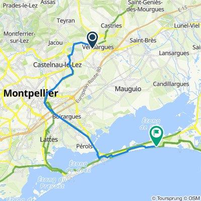 De 6–12 Chemin des Quatre Coins, Vendargues à 6 Rue du Levant, La Grande-Motte