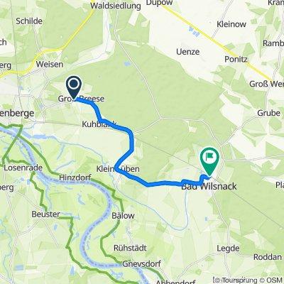 Weisener Weg, Breese nach Weinbergstraße 17, Bad Wilsnack