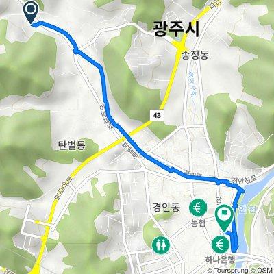 Mokhyeon-dong 7-5, Gwangju-si to Gyengan-dong 26-1, Gwangju-si