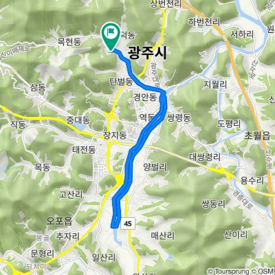 Mokhyeon-dong 8, Gwangju-si to Mokhyeon-dong 8, Gwangju-si