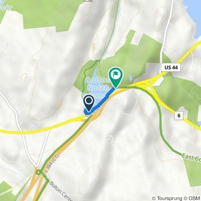 Bolton Park and Ride Lot and Boston Tpke to Hop River State Park Trail, Vernon