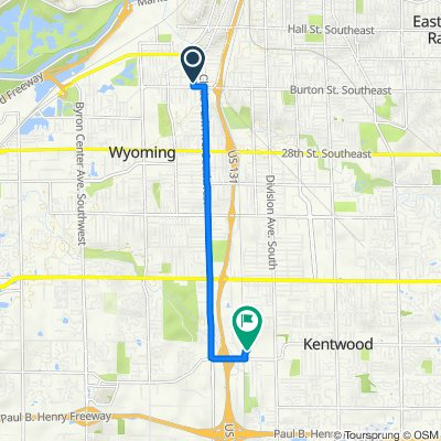 1943 Alba Ave SW, Wyoming to 355 54th St SW, Wyoming