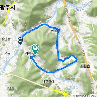 Ssangryeong-dong 37-2, Gwangju-si to Ssangryeong-dong 221, Gwangju-si