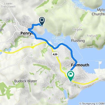 13 Bissom, Penryn to 2 Tresahar Road, Falmouth
