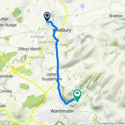 Route to 188 Elm Hill, Warminster