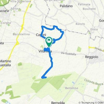 Da Via Fermi, Luzzara a Via Giacomo Leopardi 21, Villarotta