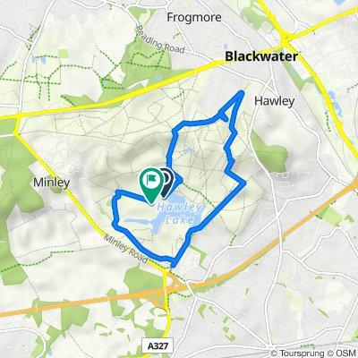 Ripon Road, Blackwater, Camberley to Ripon Road, Blackwater, Camberley