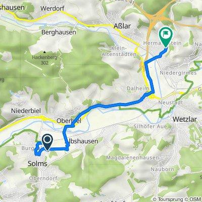 Brunnenweg 9, Solms nach An der Schäfersheck 6, Wetzlar