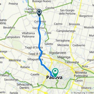 Via Valsugana, Curtarolo nach Via 8 Febbraio 1848 13, Padua