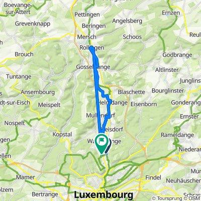 Rue de Bastogne, Luxembourg to Rue de Beggen 255, Luxembourg