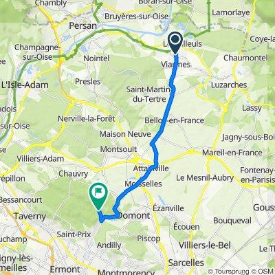 Route de Boran 6, Viarmes to Route des Fond, Saint-Prix