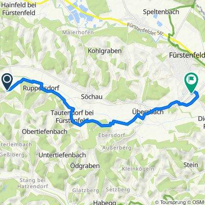 Breitenfeld 118, Riegersburg nach Loipersdorfer Straße 10b, Fürstenfeld