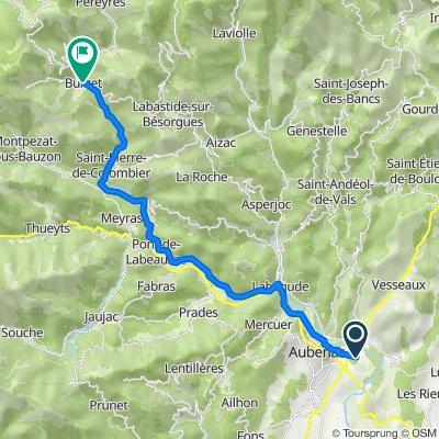 285 Chemin du Bosquet, Saint-Didier-sous-Aubenas nach 6 Grand Rue, Burzet