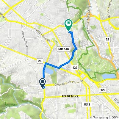 Elgin Avenue 3307, Baltimore to Loyola Northway 2400, Baltimore