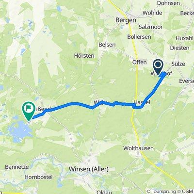 Pommernweg 16, Bergen nach Schwalbennest 36, Winsen (Aller)