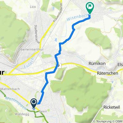 Heinrich-Bosshard-Strasse 5, Winterthur nach Dorfstrasse 17, Wiesendangen
