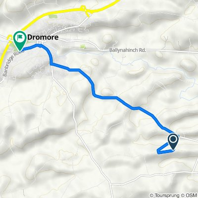 12 Tullindoney Road, Dromore to Dromore High School, 31 Banbridge Road, Dromore