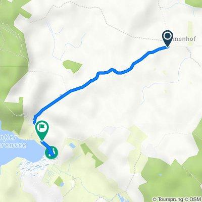 Gut Annenhof - Rodenbek nach Am Heidberg 1, Schierensee