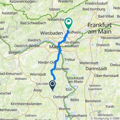 In den Edlen Weingärten 20, Dittelsheim-Heßloch nach Luisenweg 15, Hofheim am Taunus