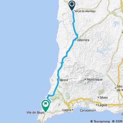 1993 - Lissabon - Andalusien - 3. Tag - Cercal do Alentejo - Vila do Bispo