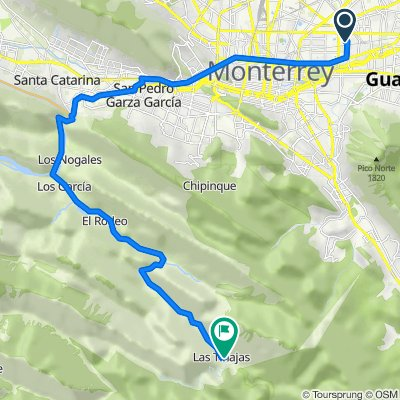 Ruta desde Calle Milán 212, Monterrey